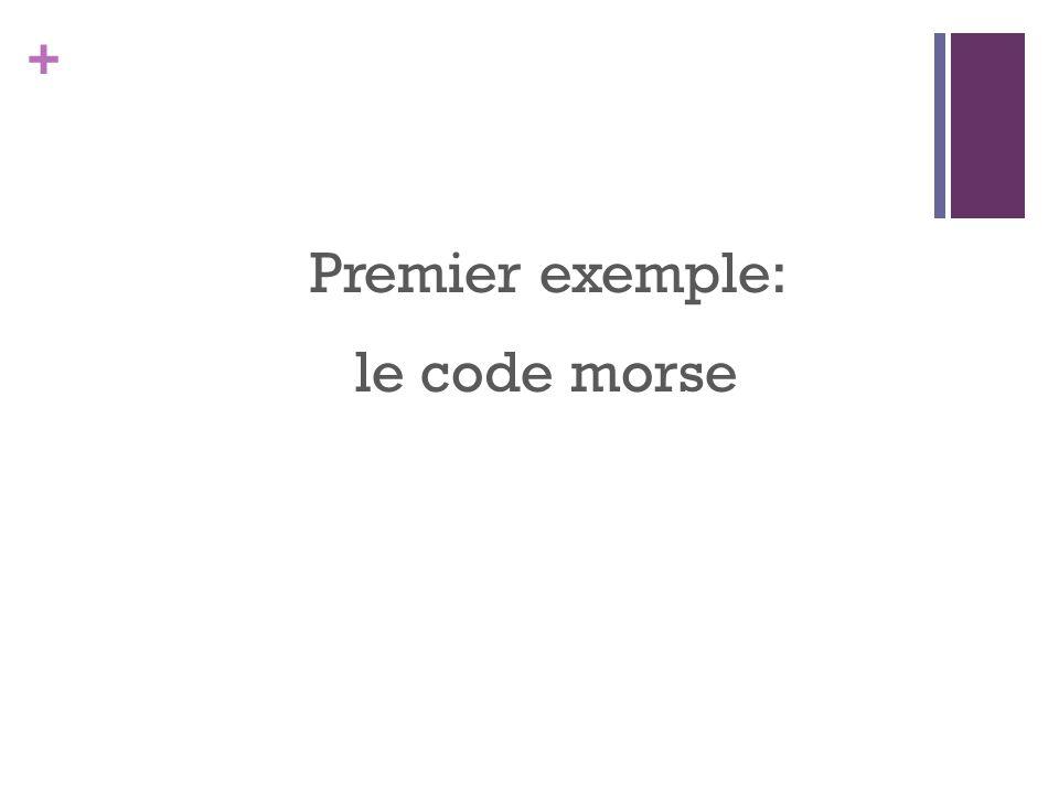 + Premier exemple: le code morse