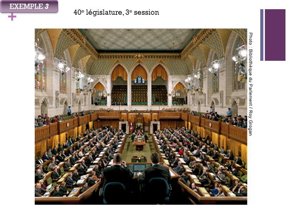 + EXEMPLE 3 40 e législature, 3 e session