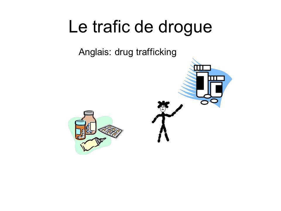 Le trafic de drogue Anglais: drug trafficking