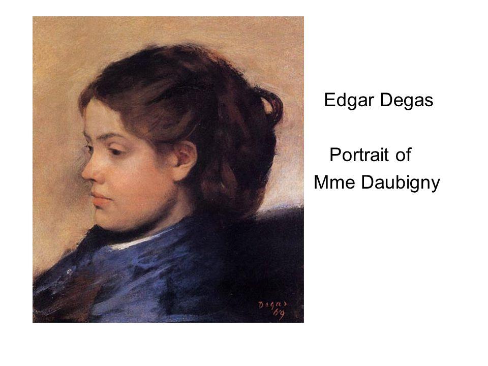 Edgar Degas Portrait of Mme Daubigny