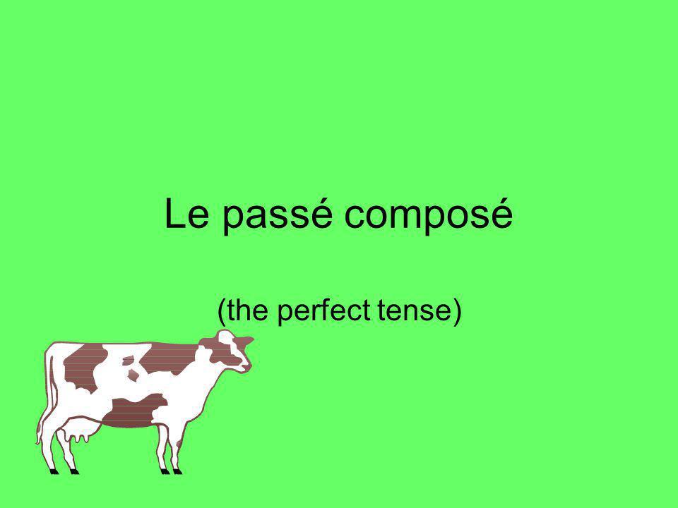 Le passé composé (the perfect tense)