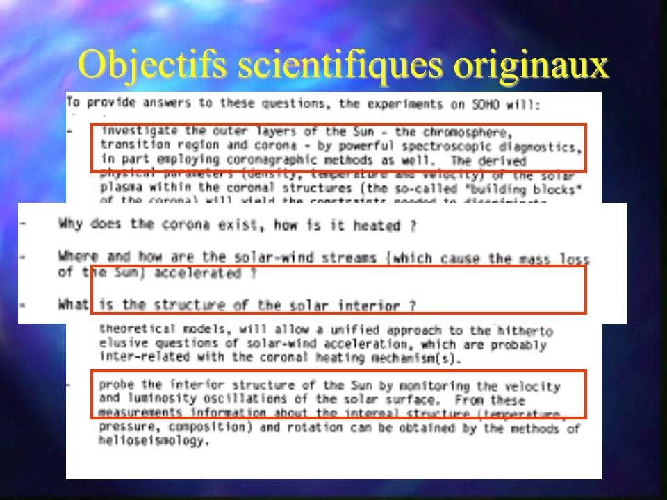 Objectifs scientifiques originaux