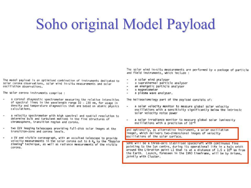 Soho original Model Payload