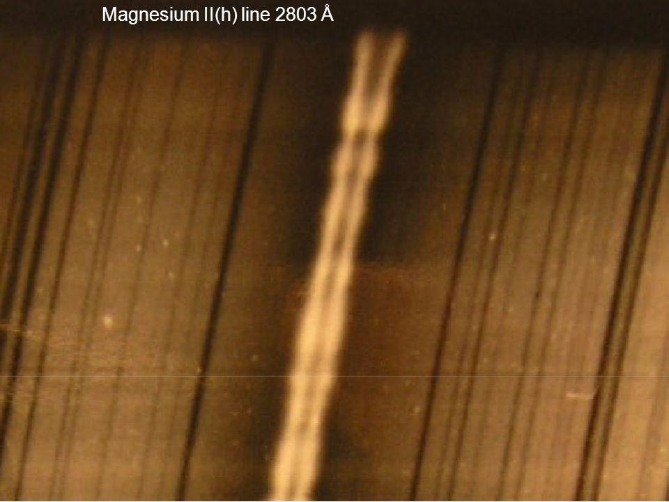 Magnesium II(h) line 2803 Å