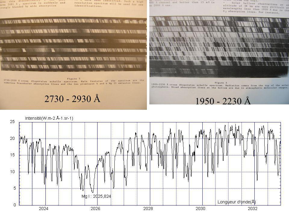 2730 - 2930 Å 1950 - 2230 Å