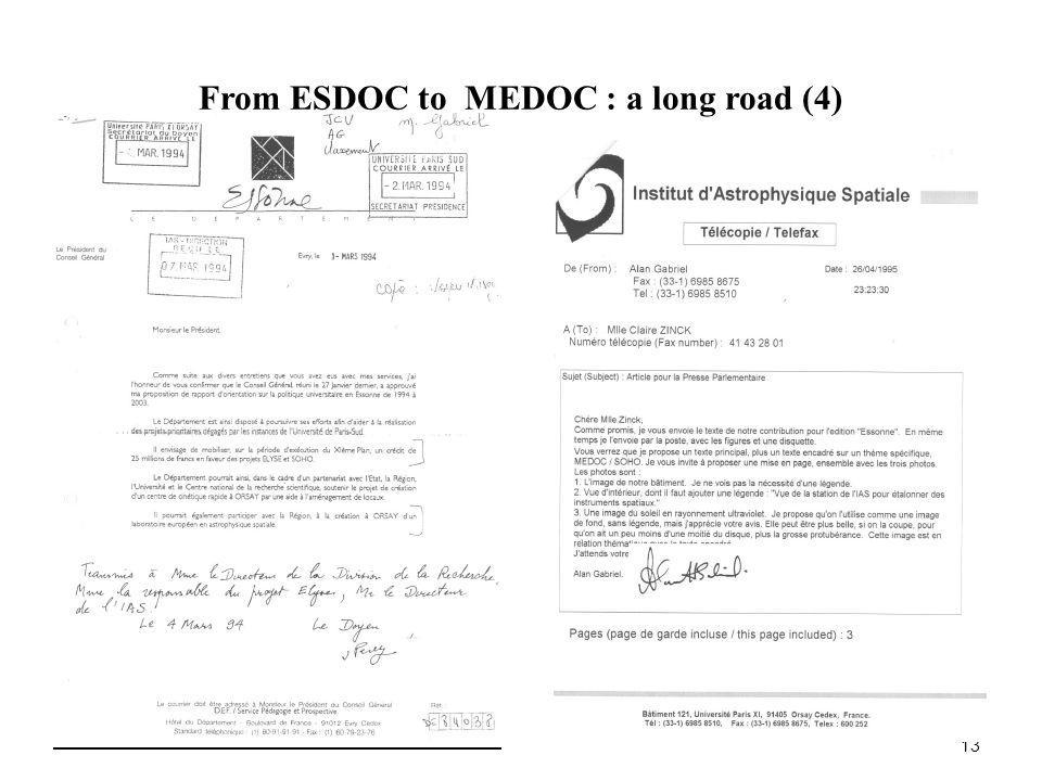 From ESDOC to MEDOC : a long road (4) 13