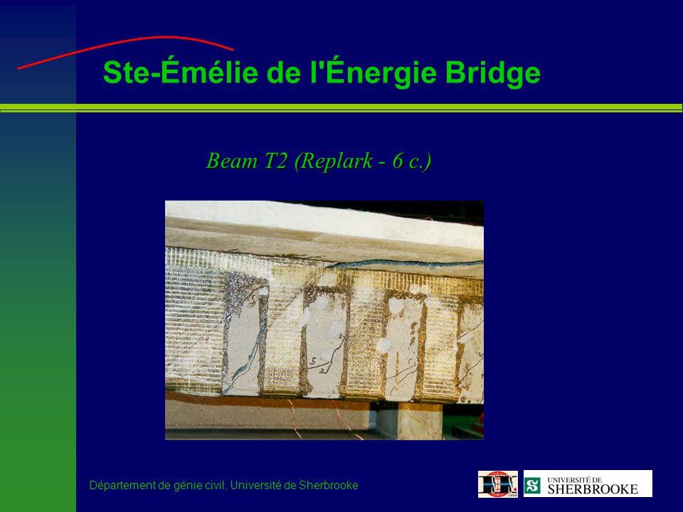 Département de génie civil, Université de Sherbrooke Ste-Émélie de l Énergie Bridge Beam T2 (Replark - 6 c.)