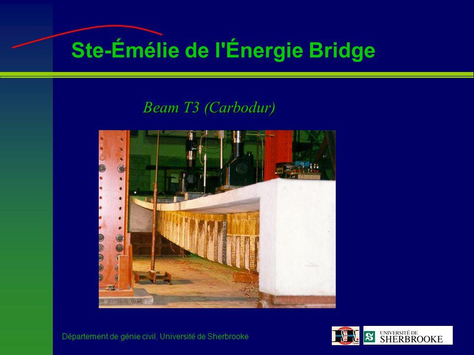 Département de génie civil, Université de Sherbrooke Ste-Émélie de l Énergie Bridge Beam T3 (Carbodur)