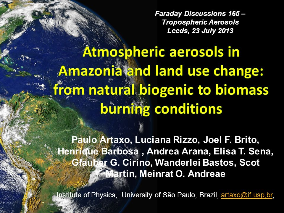 Long term (4 years) study on land use change in Amazonia.