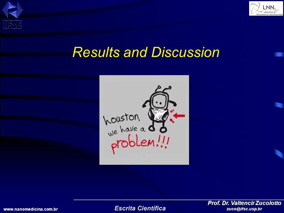 www.nanomedicina.com.br Prof. Dr. Valtencir Zucolotto zuco@ifsc.usp.br Results and Discussion