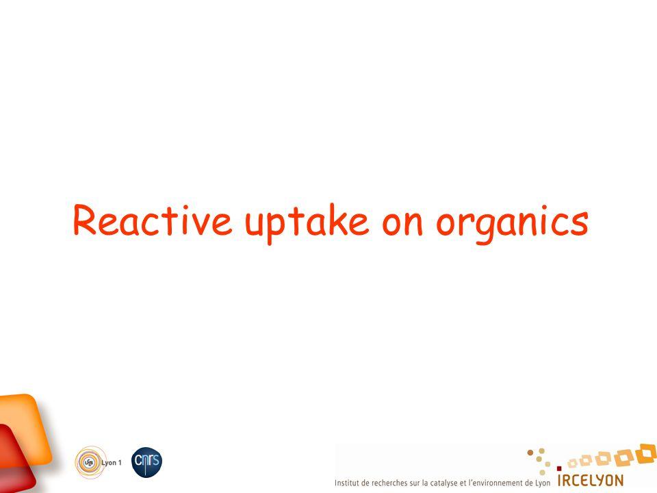Reactive uptake on organics
