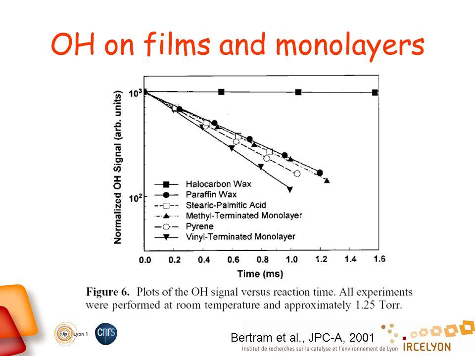 OH on films and monolayers Bertram et al., JPC-A, 2001
