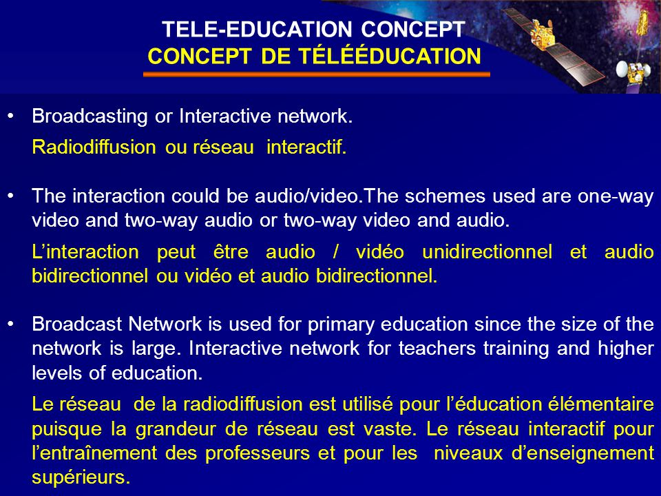 10 Broadcasting or Interactive network. Radiodiffusion ou réseau interactif.