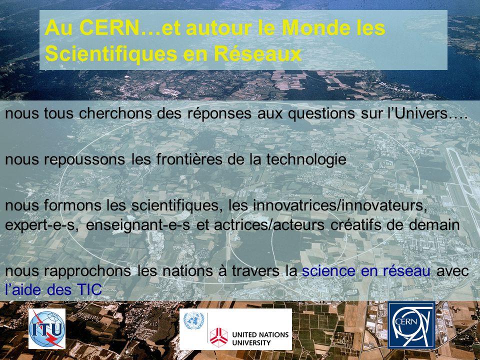 26-09-2005AFRICA-REN - Hans F Hoffmann/CERN 18 Au CERN…et autour le Monde les Scientifiques en Réseaux nous tous cherchons des réponses aux questions sur lUnivers….