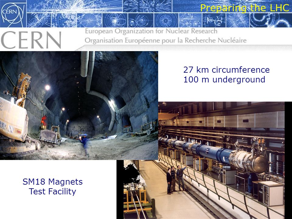 10 Preparing the LHC 27 km circumference 100 m underground SM18 Magnets Test Facility