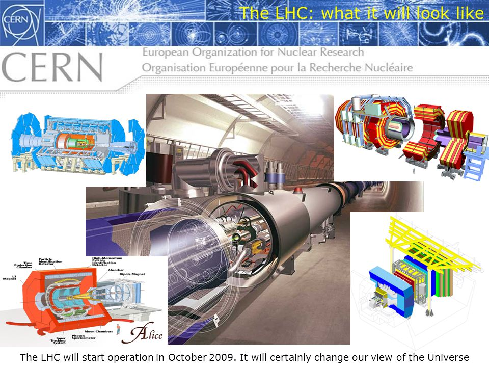 9 The LHC: what it will look like The LHC will start operation in October 2009.