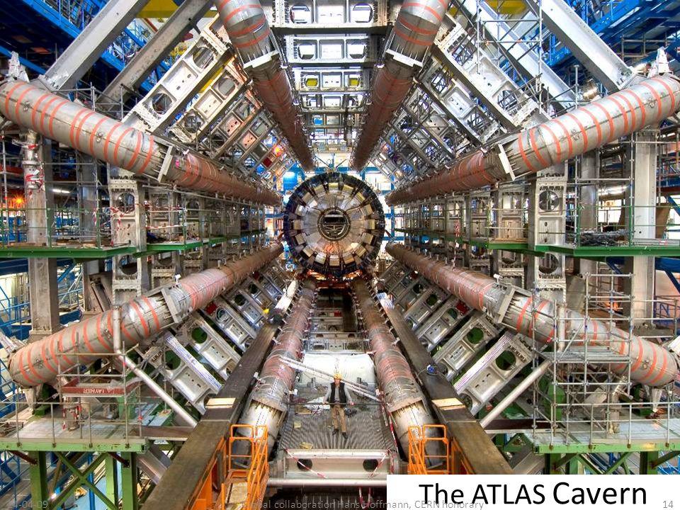 The ATLAS Cavern 24-04-0914Global collaboration Hans Hoffmann, CERN honorary