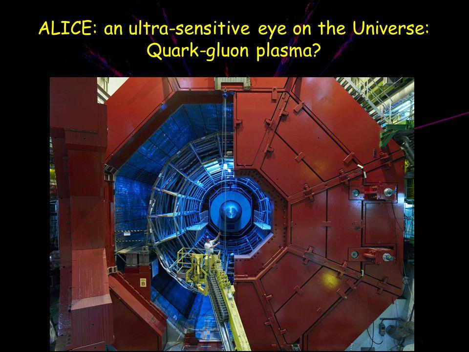 ALICE: an ultra-sensitive eye on the Universe: Quark-gluon plasma?