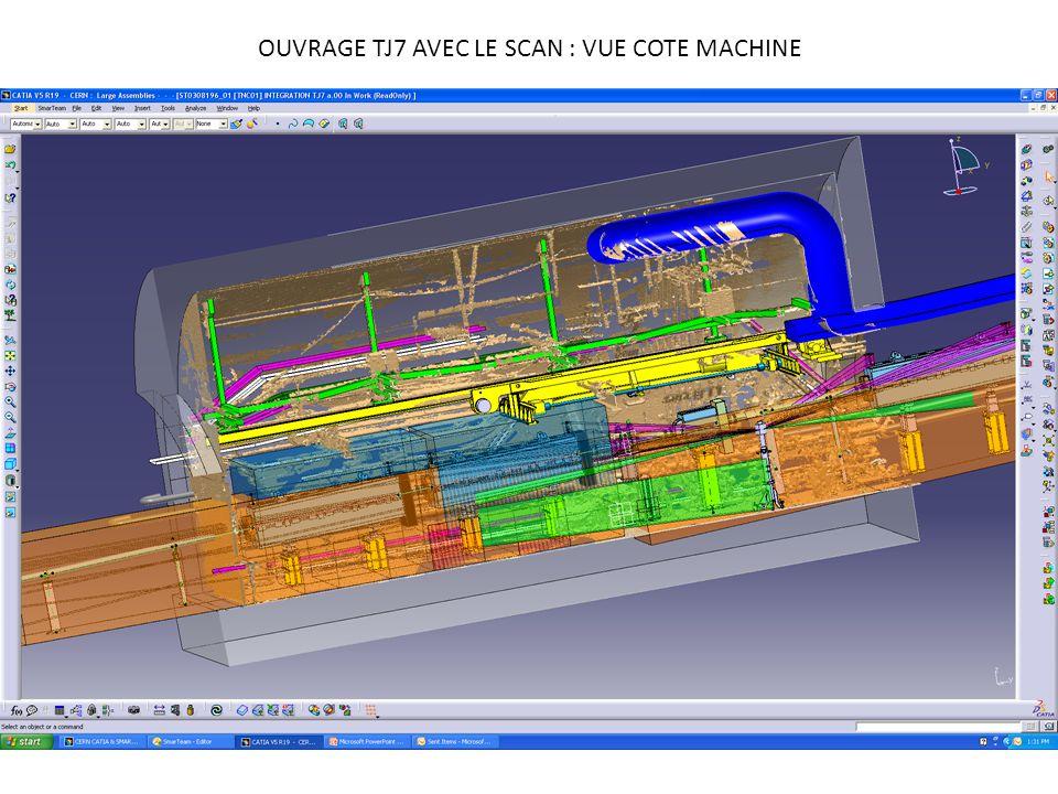 OUVRAGE TJ7 AVEC LE SCAN : VUE COTE MACHINE