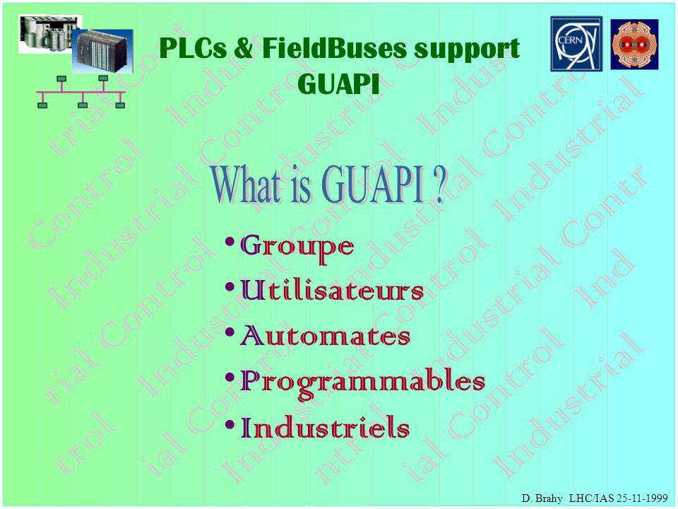 PLCs & FieldBuses support GUAPI D.