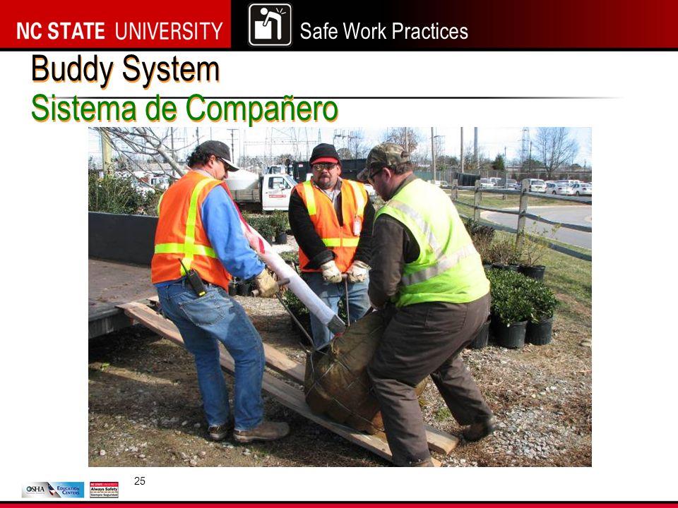 Safe Work Practices Buddy System Sistema de Compañero 25