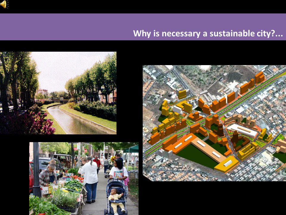Why is necessary a sustainable city?...