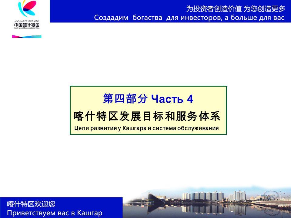 第四部分 Часть 4 喀什特区发展目标和服务体系 Цели развития у Кашгара и система обслуживания