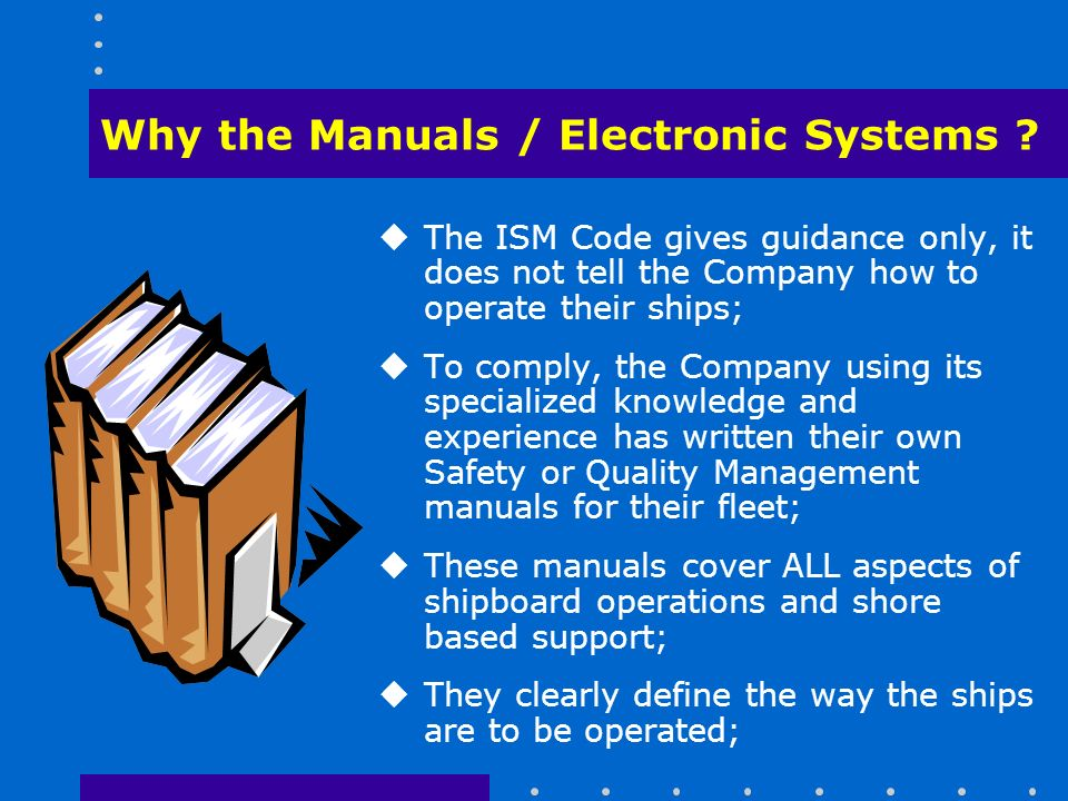 Why the Manuals / Electronic Systems .