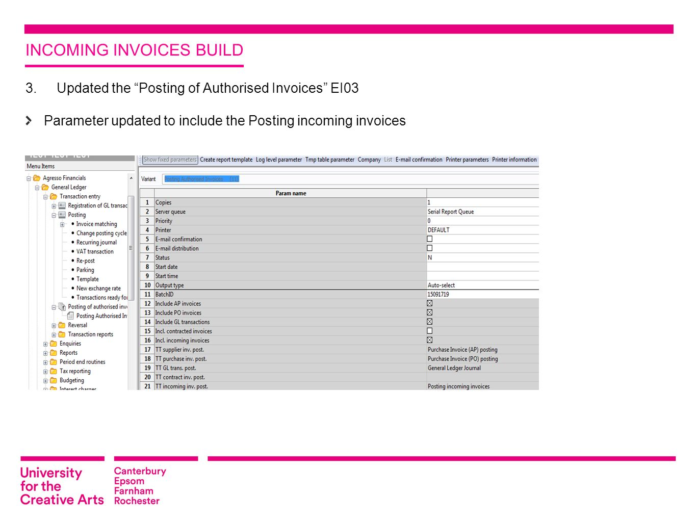 AGRESSO INCOMING INVOICES IN MILESTONE 4 BY RICHARD CHAMPNESS ...