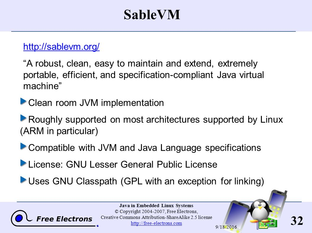 1 Java in Embedded Linux Systems © Copyright , Free