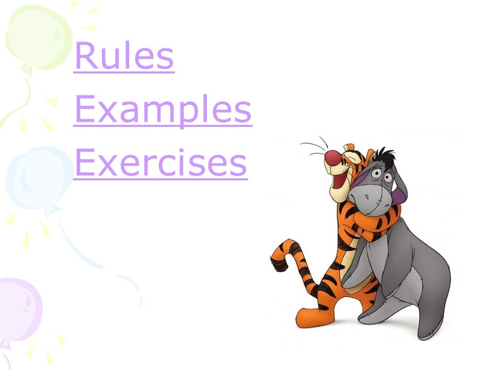 Rules Examples Exercises