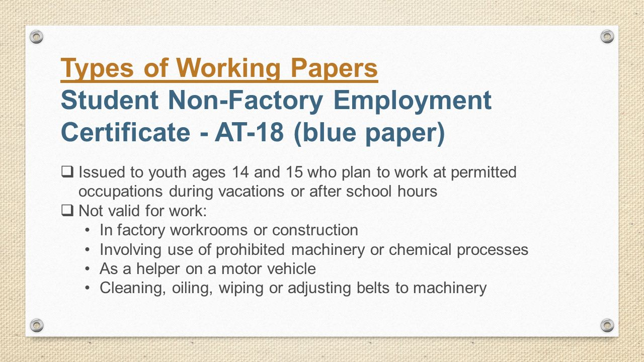 Working Papers - New York State Education Department