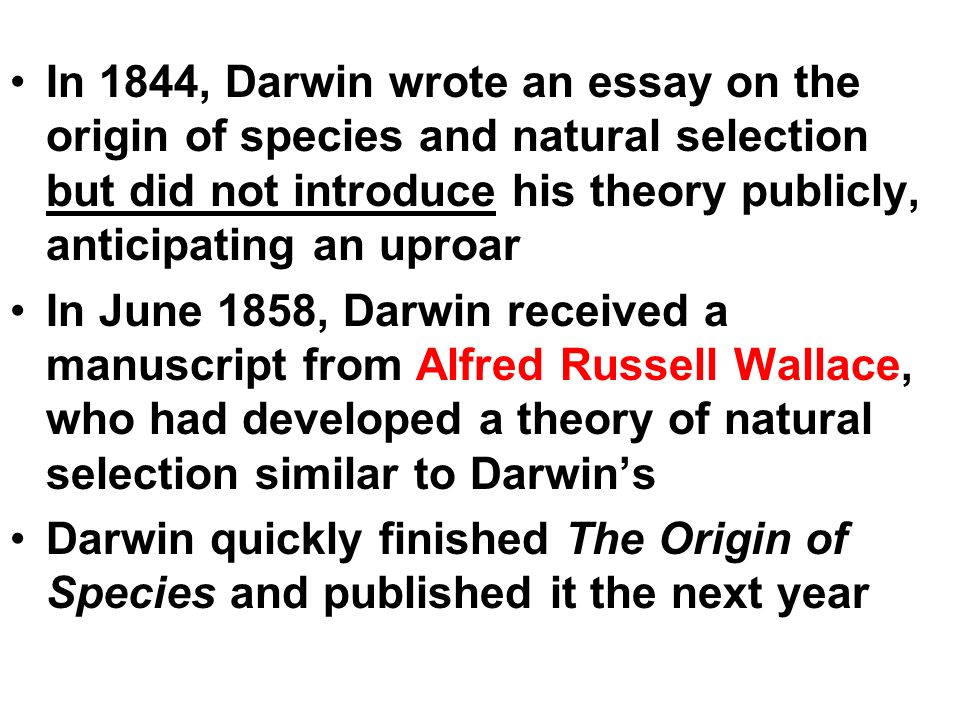 ap biology darwin evolution essay Ap biology evolution essays industrial revolution primary homework help posted on april 9, 2018 by • 0 comments also this is the greatest introduction i.