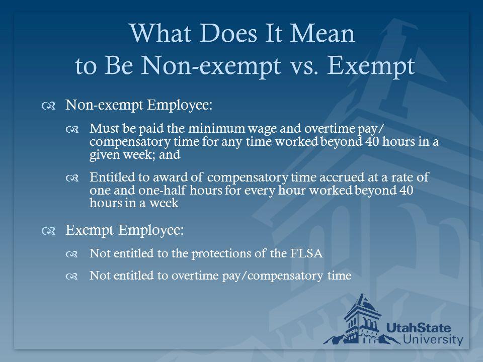 exempt non exempt