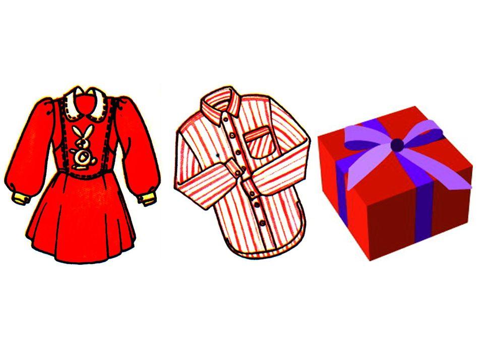 das Kleid das Hemd das Geschenk