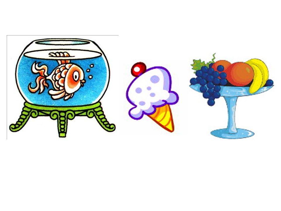 das Aquarium das Eis das Obst