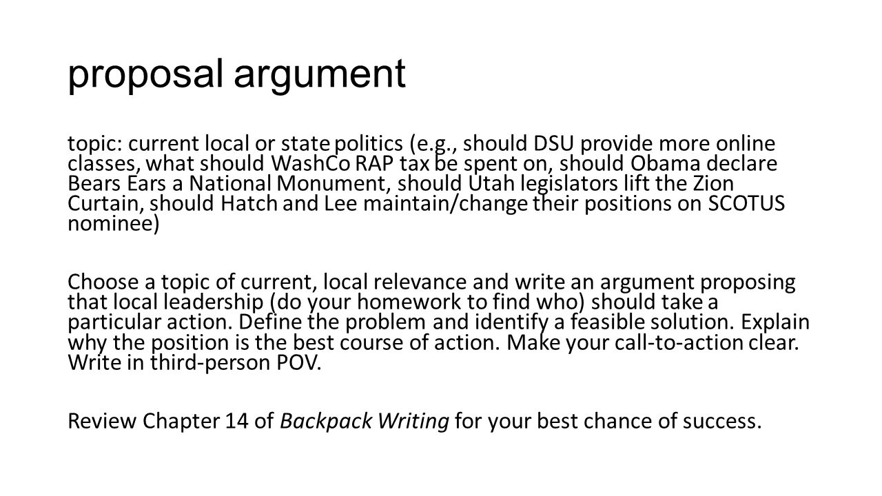 proposal argument