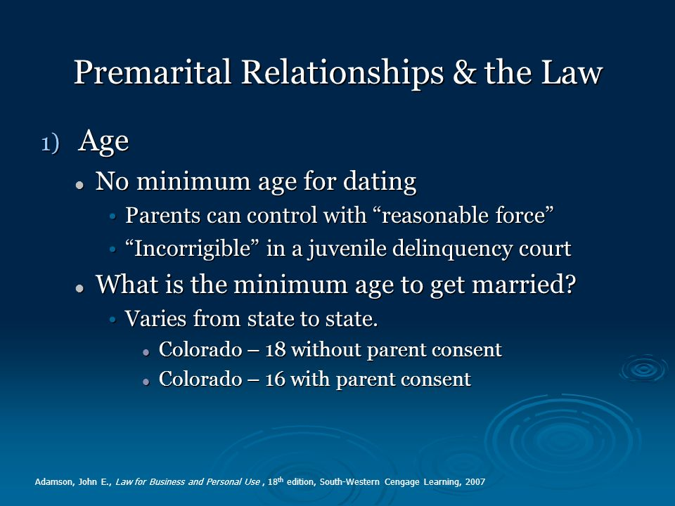 What is the dating age law