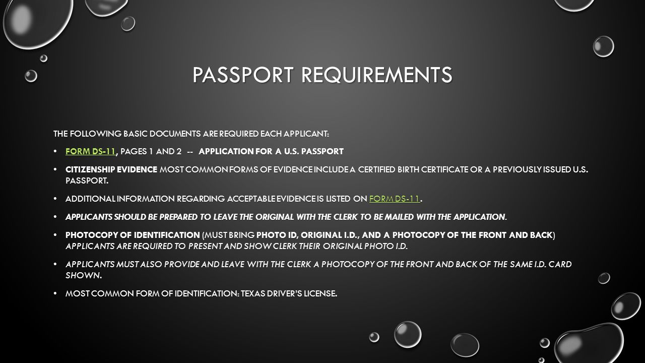 Passport requirements the following basic documents are required 1 passport requirements falaconquin