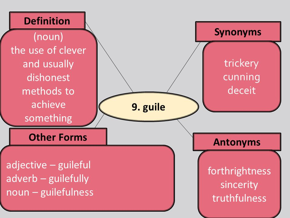 18 9. Guile Synonyms Antonyms Definition ...