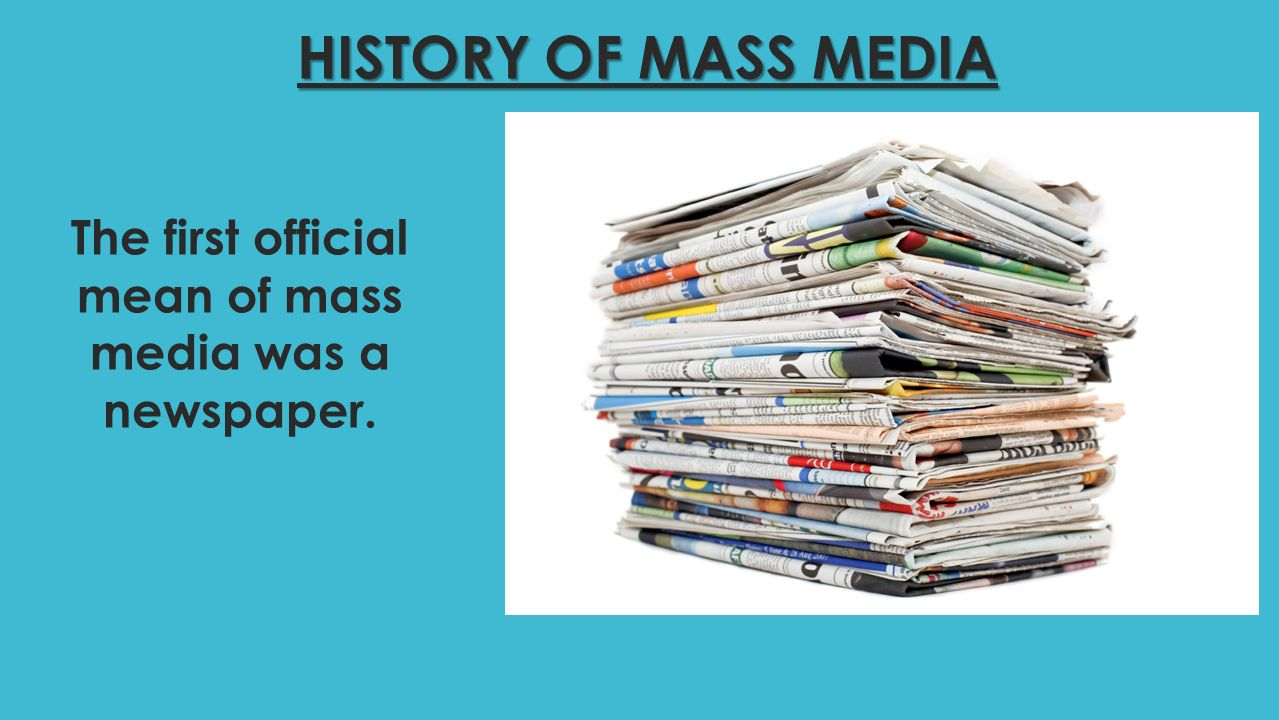 the historical perspective of mass media laws media essay Laws of media – the four effects: a mcluhan contribution to social epistemology into the history of an essay on the laws of media by gregory.