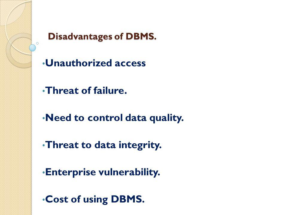 disadvantages of database management system Introduction - Database management system Introduction - Database ...