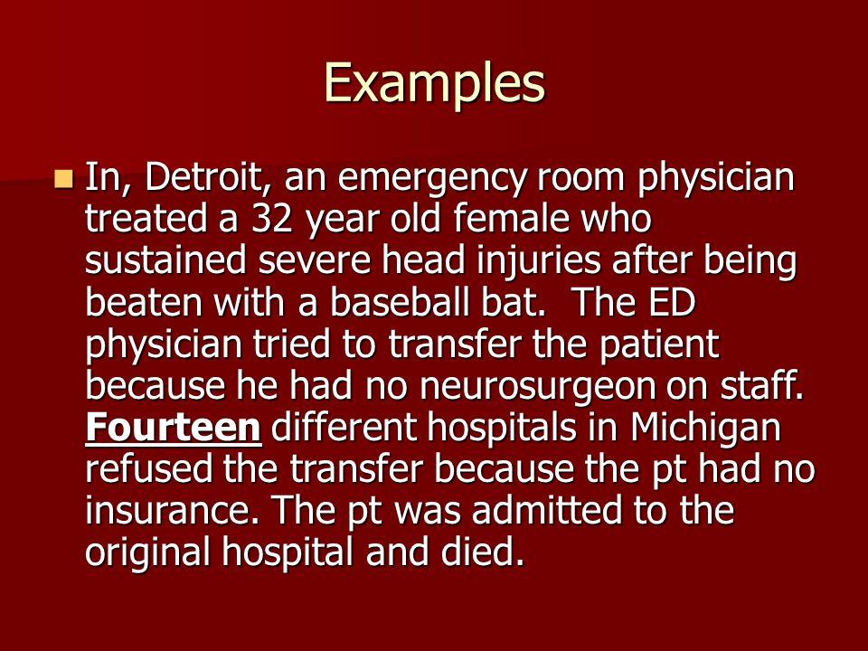 EMTALA. EMTALA Emergency Medical Treatment and Active Labor Act ...