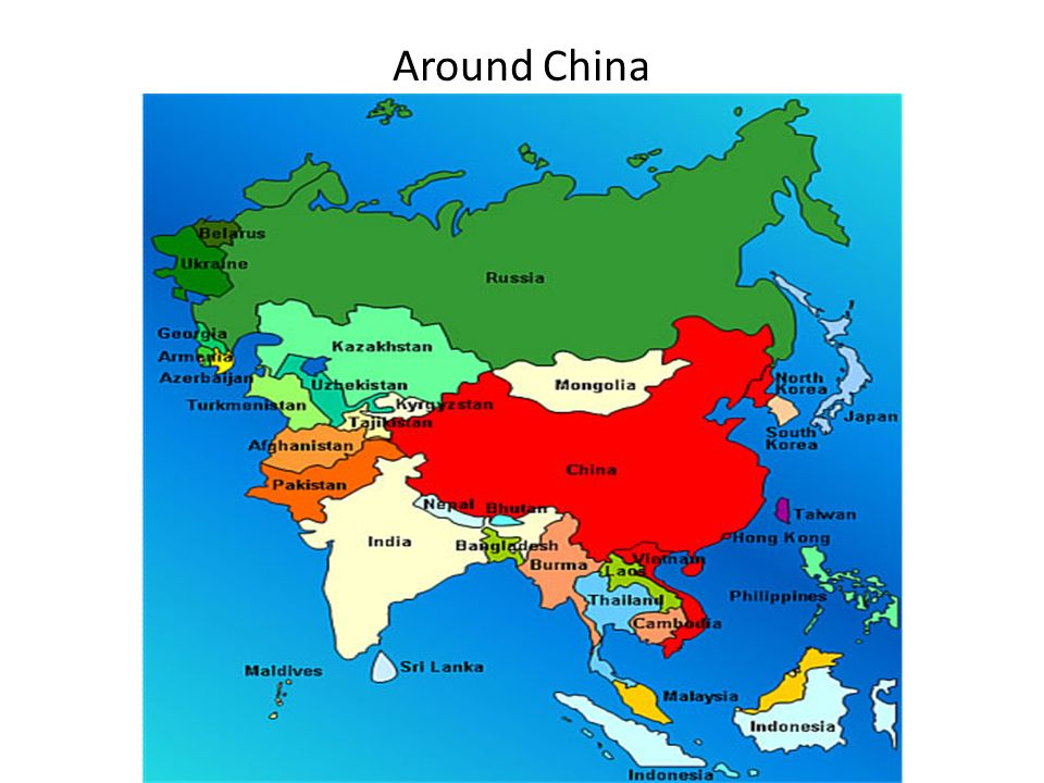 Objective 1i can identify chinas neighboring countries and 4 around china around china 5 chinas neighboring countries sciox Image collections