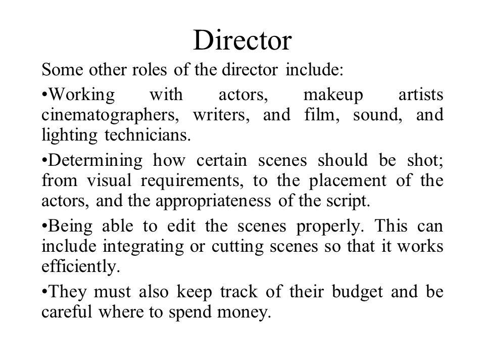 5 Director ...  sc 1 st  SlidePlayer & FILM JOBS By: Kiran Pendyala. Cinematographer A cinematographer is ... azcodes.com