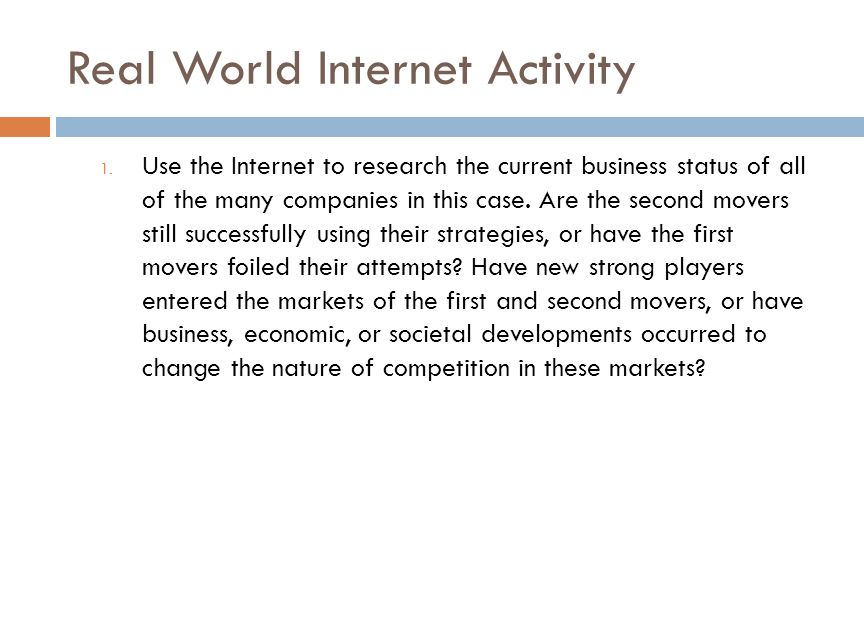 Real World Internet Activity 1.