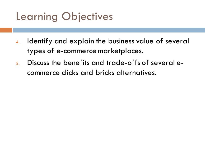 Learning Objectives 4.