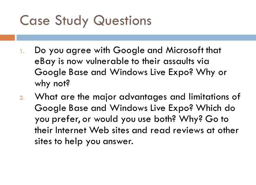 Case Study Questions 1.