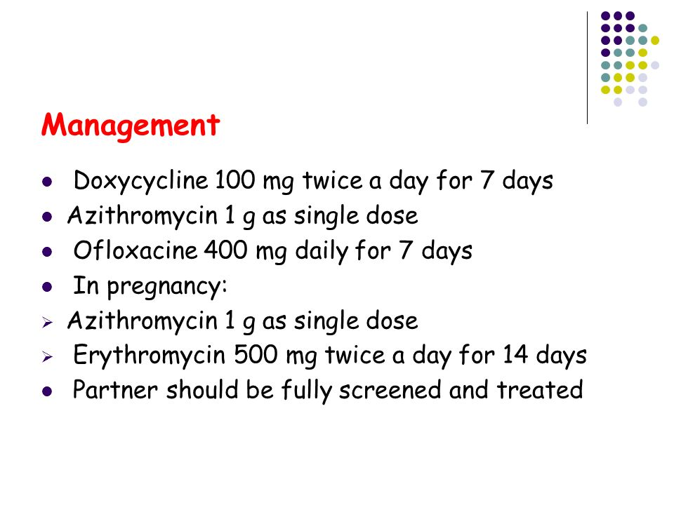 doxycycline 100 mg 7 days