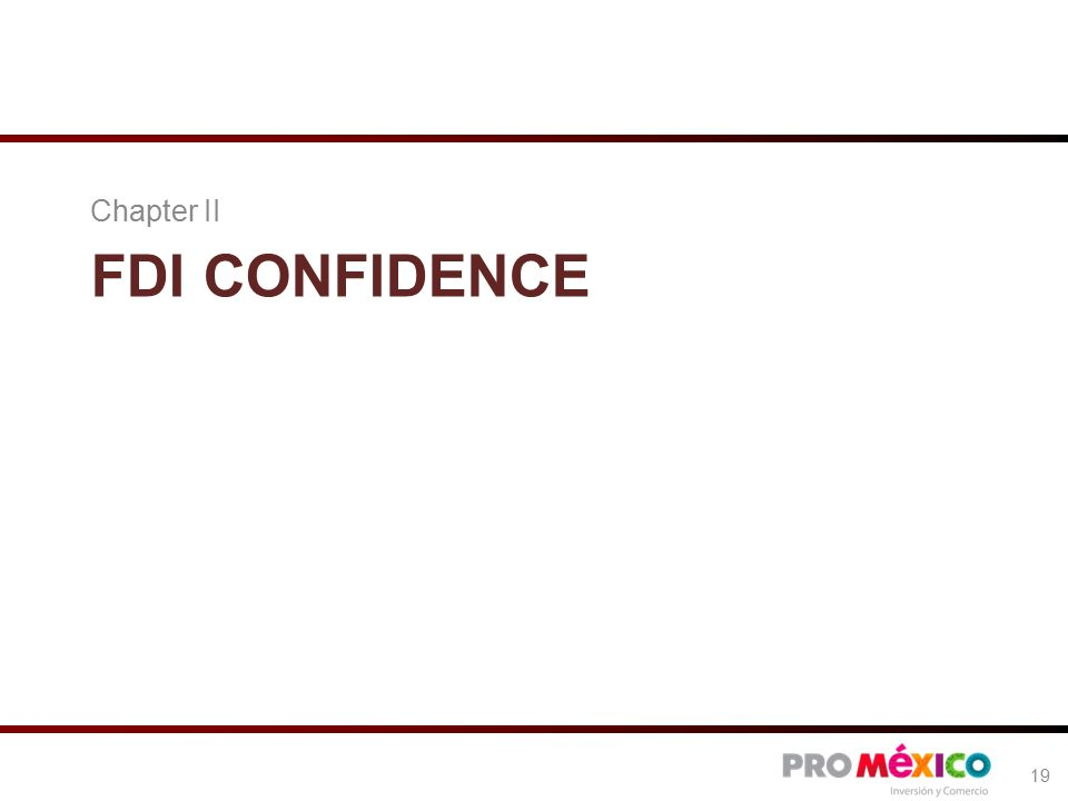 FDI CONFIDENCE Chapter II 19